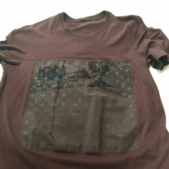 d7078007477 ... louis vuitton shirts men tshirt poshmark  supreme x ...